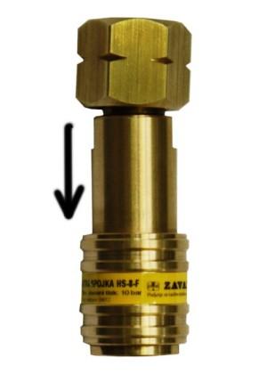 Hitre spojke za gorljive pline z nepovratnim ventilom