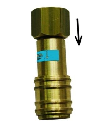 Hitre spojke za kisik z nepovratnim ventilom